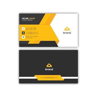 Diseño moderno de plantilla de tarjeta de visita