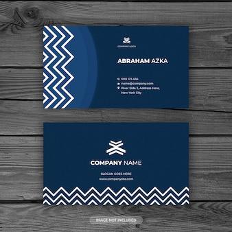 Diseño moderno de tarjeta azul con concepto corporativo