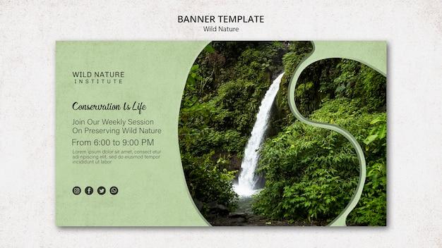 Diseño de naturaleza salvaje para plantilla de banner
