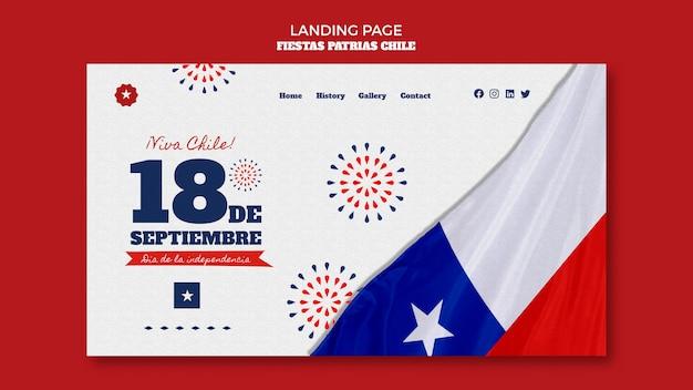 Diseño de página de destino del día internacional de chile