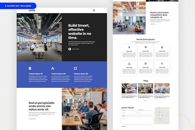 Diseño de página de sitio web de empresa de ti