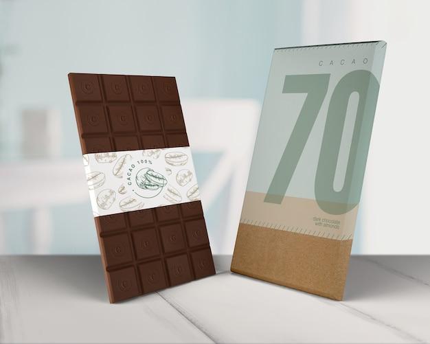 Diseño de papel envoltura de chocolate