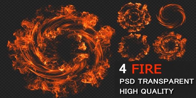 Diseño de paquete de explosión de fuego aislado