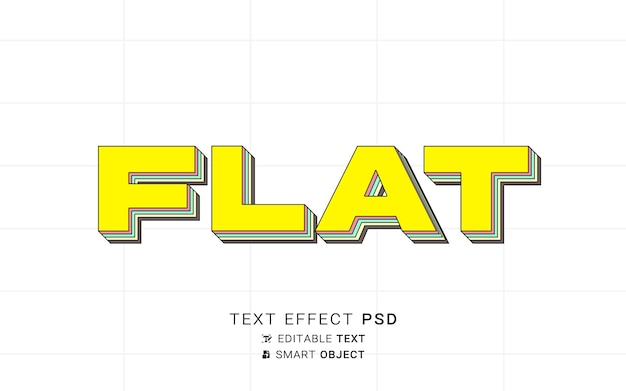 Diseño plano con efecto de texto