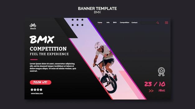 Diseño de plantilla de banner de bmx