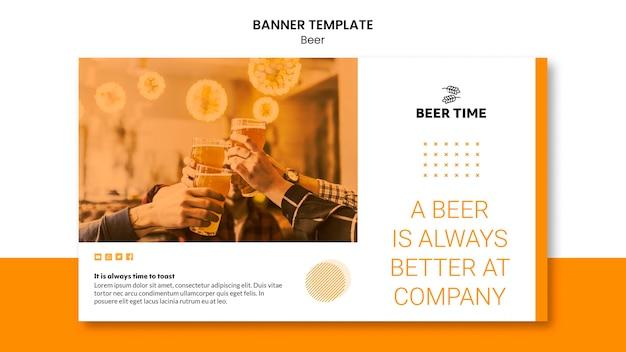 Diseño de plantilla de banner de cerveza
