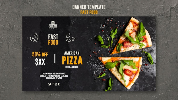 Diseño de plantilla de banner de comida rápida