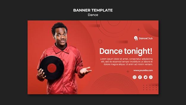 Diseño de plantilla de banner de concepto de baile