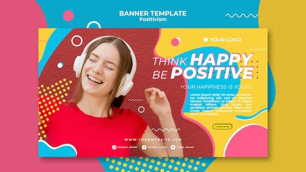 Diseño de plantilla de banner de concepto de positivismo