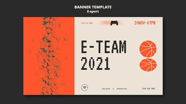 Diseño de plantilla de banner de esport