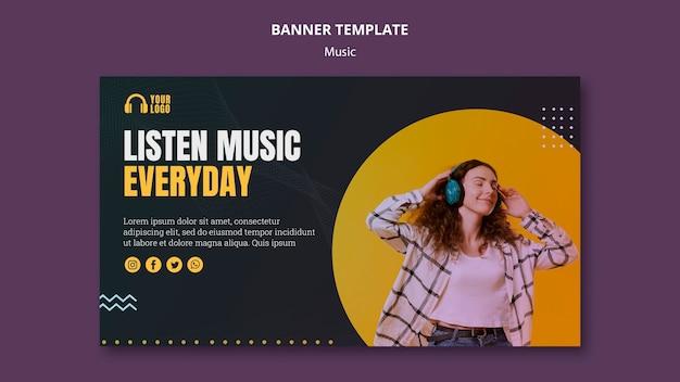 Diseño de plantilla de banner de evento musical