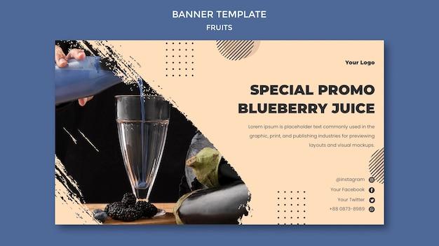 Diseño de plantilla de banner de frutas