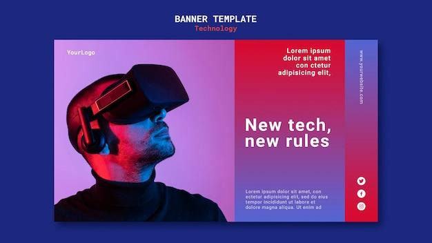 Diseño de plantilla de banner de nueva tecnología