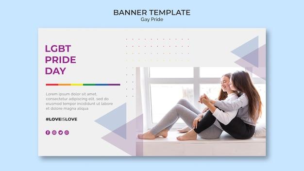Diseño de plantilla de banner de orgullo gay