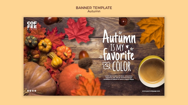Diseño de plantilla de banner de otoño