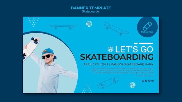 Diseño de plantilla de banner de skater