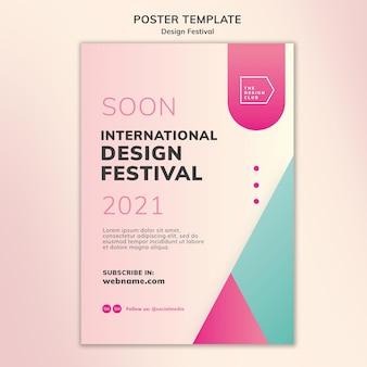 Diseño de plantilla de cartel de festival