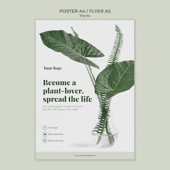 Diseño de plantilla de cartel de plantas