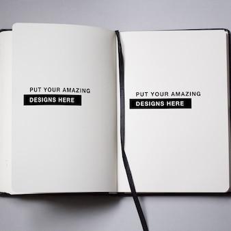 Diseño de plantilla de cuaderno de notas