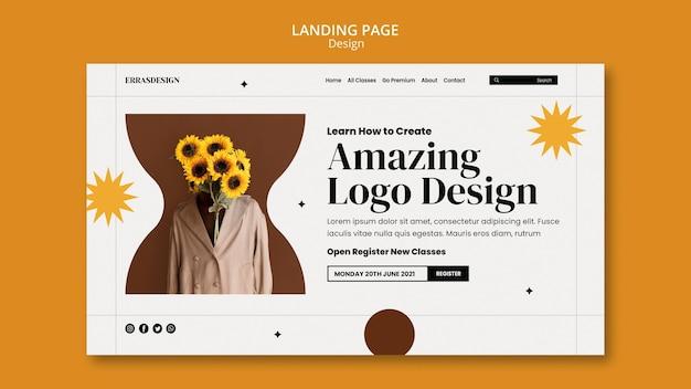 Diseño de plantilla de diseño de página de destino
