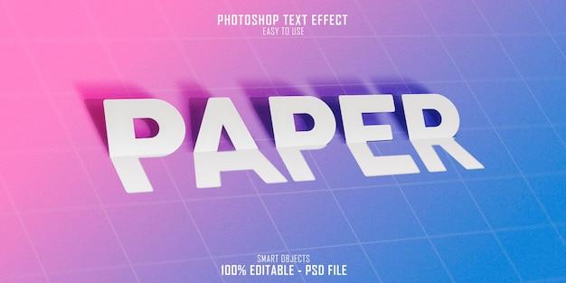 Diseño de plantilla de efecto de estilo de texto de papel 3d