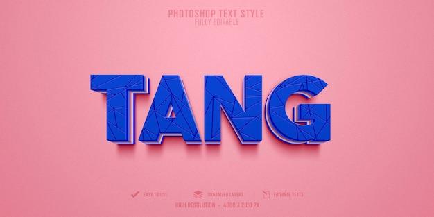 Diseño de plantilla de efecto de estilo de texto tang 3d