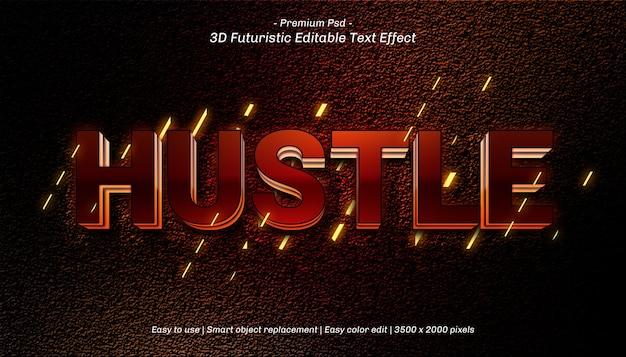 Diseño de plantilla de efecto de texto hustle