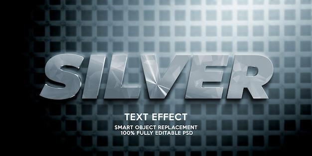 Diseño de plantilla de efecto de texto plateado