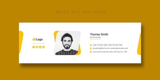 Diseño de plantilla de firma de correo electrónico o plantilla de portada de facebook