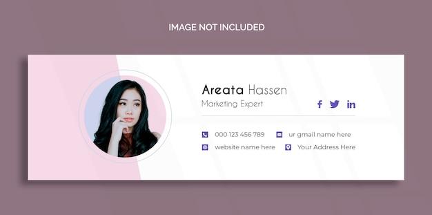 Diseño de plantilla de firma de correo electrónico o plantilla de portada de redes sociales personales