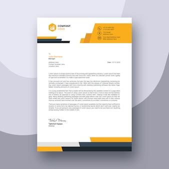 Diseño de plantilla de membrete moderno de negocios abstractos