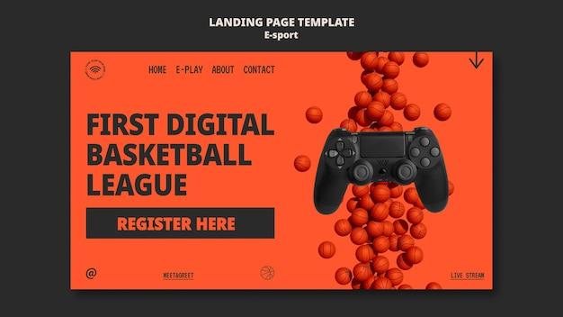 Diseño de plantilla de página de destino de esport
