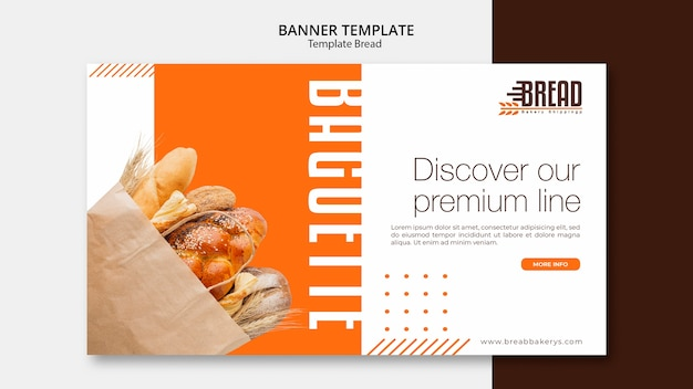 Diseño de plantilla de pancarta de negocios de pan