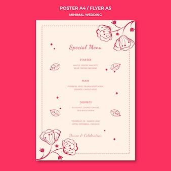 Diseño de plantilla de póster de boda