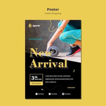 Diseño de plantilla de póster de compras en línea
