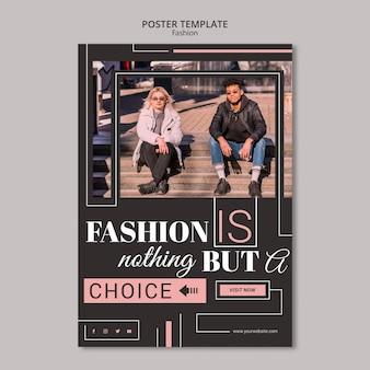 Diseño de plantilla de póster de concepto de moda