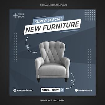 Diseño de plantilla de publicación de instagram de muebles