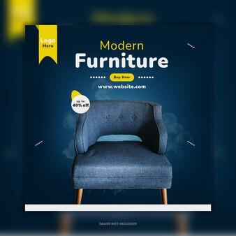 Diseño de plantilla de publicación de instagram de venta de muebles