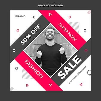 Diseño de plantilla de publicación de redes sociales de venta