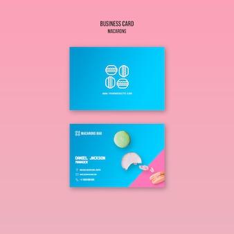 Diseño de plantilla de tarjeta de visita macarons