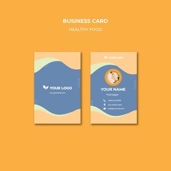 Diseño de plantilla de tarjeta de visita de restaurante