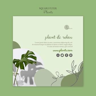 Diseño de plantilla de volante de plantas