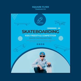 Diseño de plantilla de volante de skater