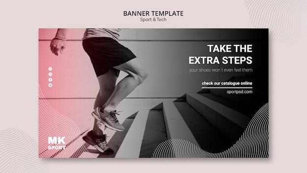 Diseño de plantillas de banner de deporte y tecnología