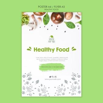 Diseño de plantillas de carteles de alimentos saludables