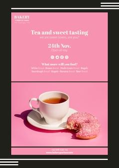 Diseño de plantillas web de negocios de té
