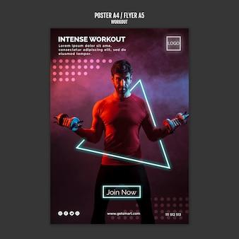 Diseño de póster de concepto de entrenamiento