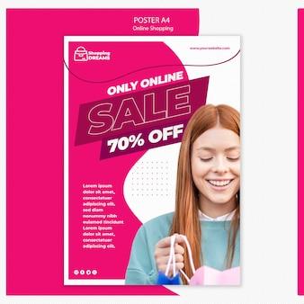 Diseño de póster en línea de compras