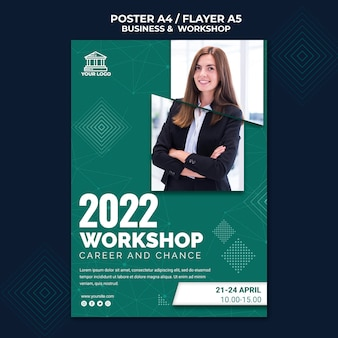 Diseño de póster de negocios y talleres