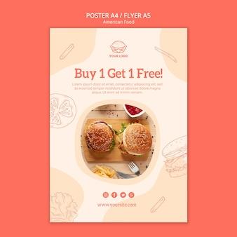 Diseño de póster con oferta